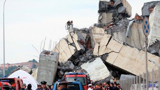 Tragedia en Italia: Al menos 30 muertos por derrumbe de puente en autopista
