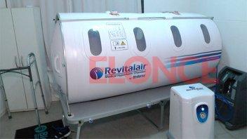 Niña intoxicada con monóxido fue tratada en cámara hiperbárica de Paraná