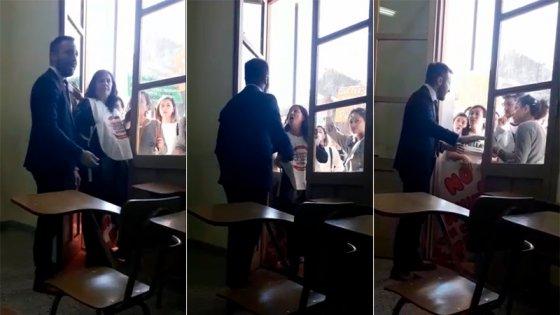 Video: Fuerte cruce en clase por el reclamo en defensa de la universidad pública