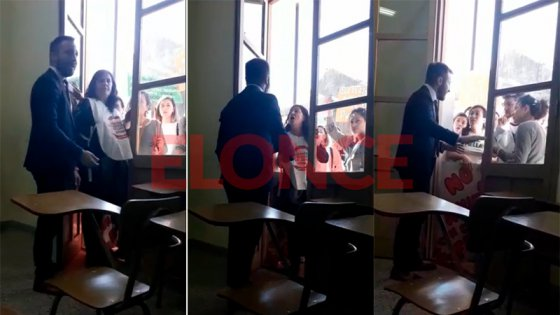 Video: Fuerte cruce en clase por el reclamo en defensa de la universidad pública