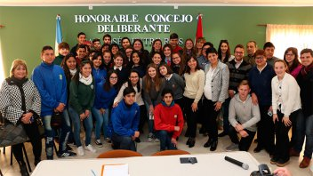 Asumió el nuevo Concejo Deliberante Estudiantil de San José