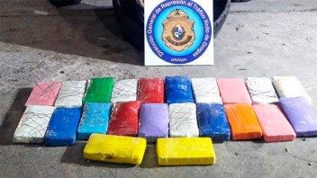 Viajaron por rutas de Entre Ríos con 23 kilos de cocaína y pasaron a Uruguay
