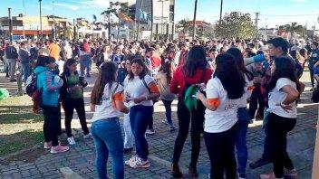 Concordia se plegó a la movilización en defensa de la universidad pública