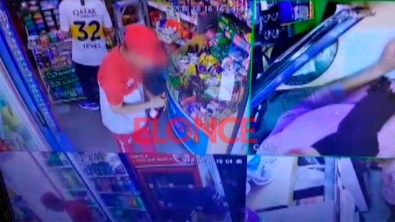 Video: Intentaron robar cerveza en un kiosco del centro pero los descubrieron