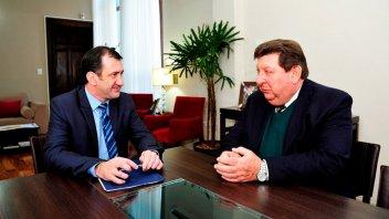 Kueider recibió al senador Kisser y dialogaron sobre la reforma electoral