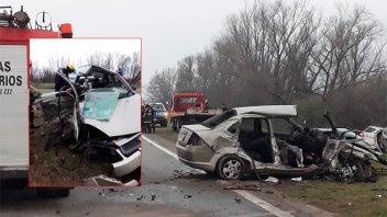 Una mujer falleció en tremendo choque sobre Ruta 12: Hay varios heridos