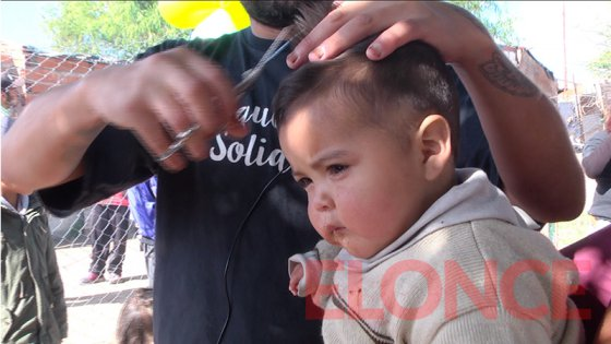 Peluqueros Solidarios festejó el Día del Niño en Barrio El Pozo de Paraná