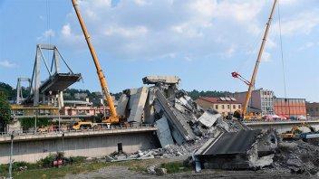 Divulgaron tremendo video de la caída del puente de Génova