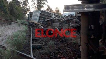 Fotos: Descarrilaron seis vagones de un tren de cargas que transportaba piedra