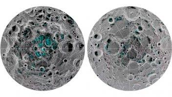 Confirmaron la presencia de hielo en la superficie de la luna