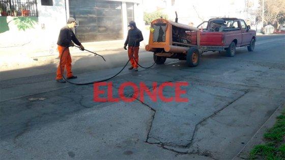 Obras en calles de Paraná y