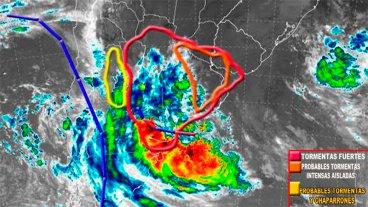 Hay seis alertas vigentes en el país por tormentas, lluvias y otros fenómenos