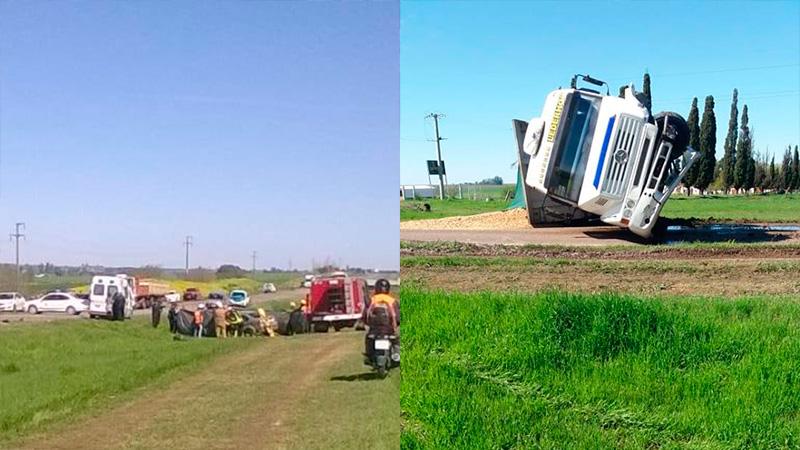 Fotos: Un hombre murió en impresionante choque entre camión y auto cerca de Crespo