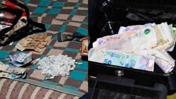 Incautaron más de 100 dosis de droga y dinero tras allanamiento en Paraná