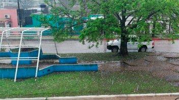 Videos: Fuerte tormenta de granizo en Concepción del Uruguay