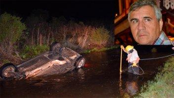El hombre fallecido al quedar sumergido su auto había sido padre hace 5 meses