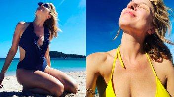 Carla Peterson se fue de vacaciones y lució su belleza al natural