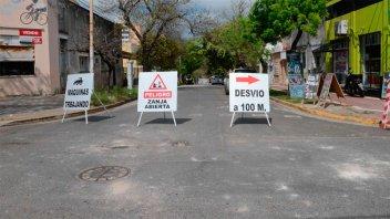 Los cortes de tránsito por obras viales en Paraná
