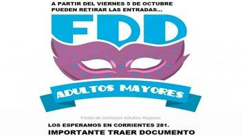 Fiesta de Disfraces de Adultos Mayores: Comienza la entrega de entradas
