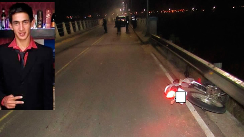 Falleció motociclista accidentado