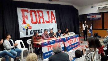 Acto del partido de la concertación nacional Forja en Paraná