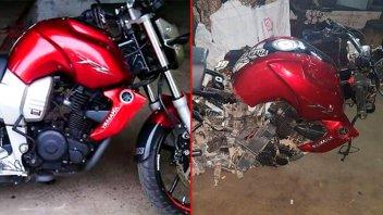 Robaron su moto e investigó hasta encontrarla pero la halló desarmada