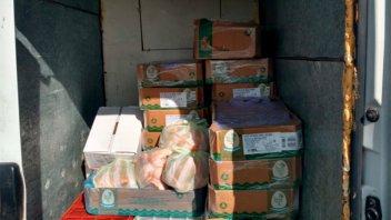 Decomisaron 200 kilos de pollo en la Autovía Artigas
