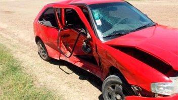 Tres vehículos sufrieron serios daños en un choque múltiple