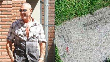 La tumba de Ricardo Fort en estado de abandono generó la bronca de sus fanáticos