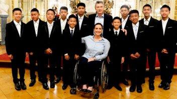 Macri recibió a los chicos tailandeses que habían quedado atrapados en una cueva