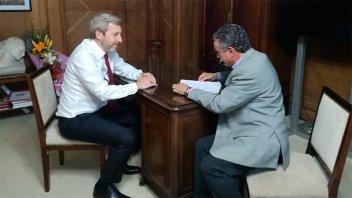 El ministro Frigerio recibió a Zacarías y hablaron del servicio del Renaper