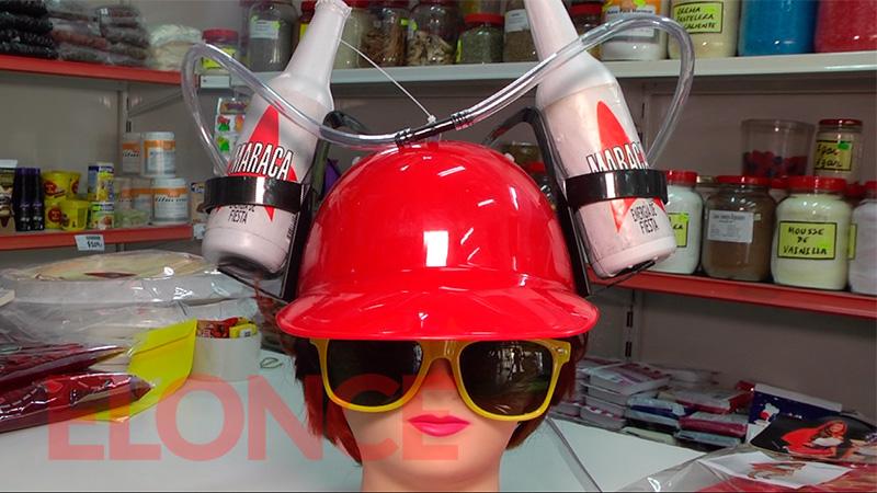 Ese súper casco cuesta 350 pesos