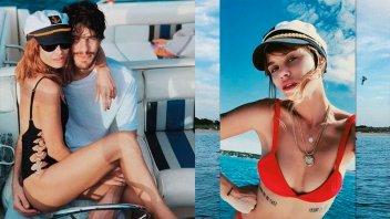 Mimos y sensualidad: Las vacaciones de Vitto Saravia y el ex de Silvina Luna