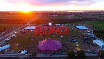 La previa de la Fiesta de Disfraces: Así se veía desde el drone de Elonce