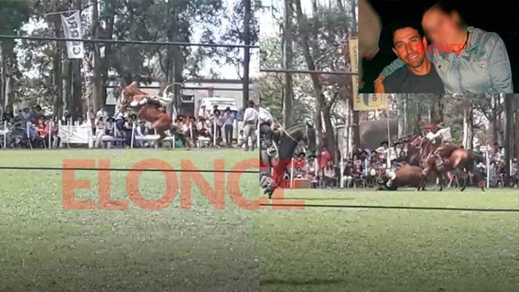 Video muestra el momento en que jinete entrerriano es aplastado por su caballo