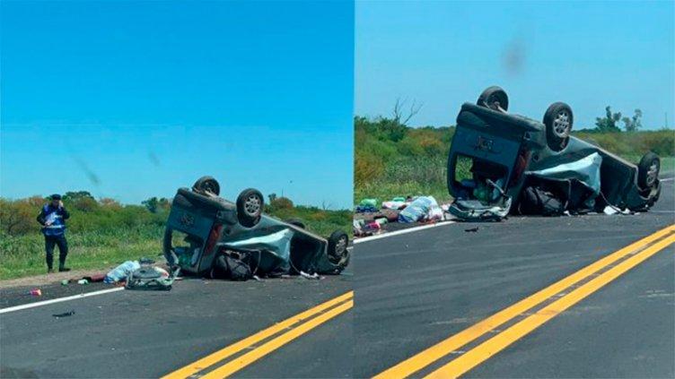 Vuelco fatal sobre Ruta 12 en el sur entrerriano