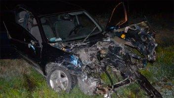 Trasladaron a Paraná a dos heridos en violentísimo choque frontal