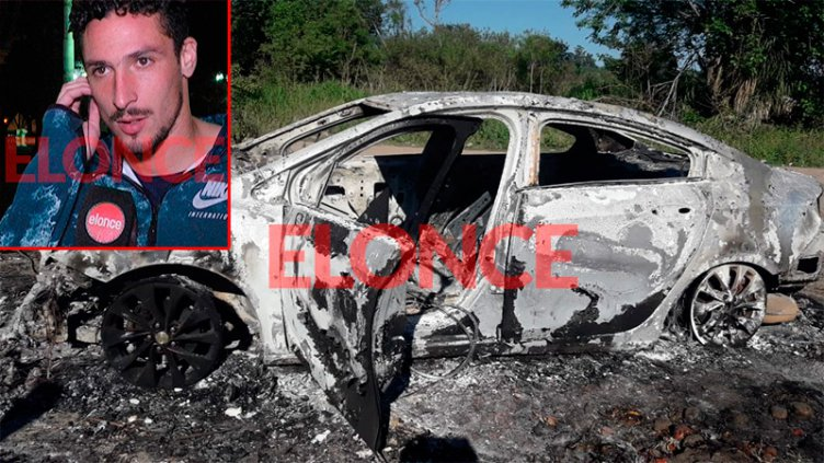 Robo e incendio del auto de Lemos: