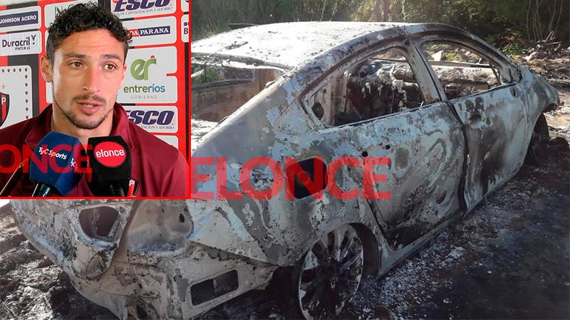 Fotos: Así quedó tras el incendio, el auto de un jugador de Patronato