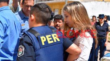 Video y fotos: Así llegaba Nahir Galarza al penal de Concepción del Uruguay