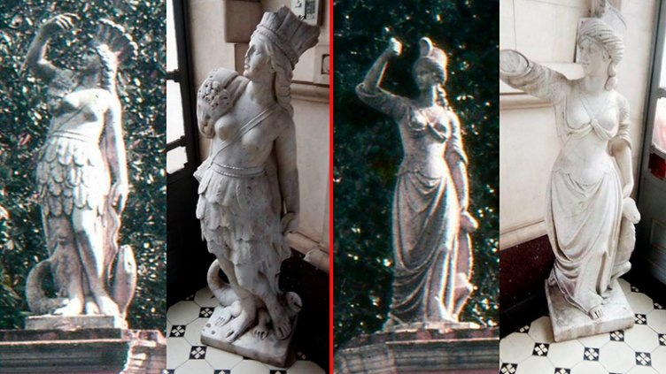 Establecen diferencias entre las estatuas incautadas en Victoria y las robadas