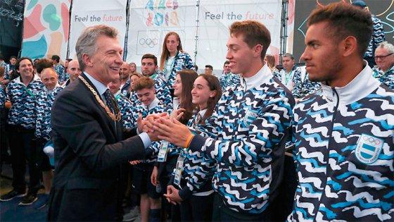 Macri recibió a los atletas: