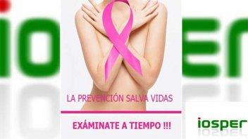 Iosper promueve la detección precoz del cáncer de mama
