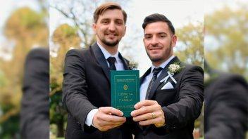 Se celebró el primer matrimonio igualitario en la localidad de General Ramírez