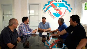 Aportes por más de $300.000 para Bomberos Voluntarios del departamento Paraná
