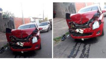 Corrió con su auto y atropelló a dos
