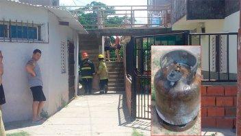 Una familia perdió todo en un incendio por la explosión de una garrafa