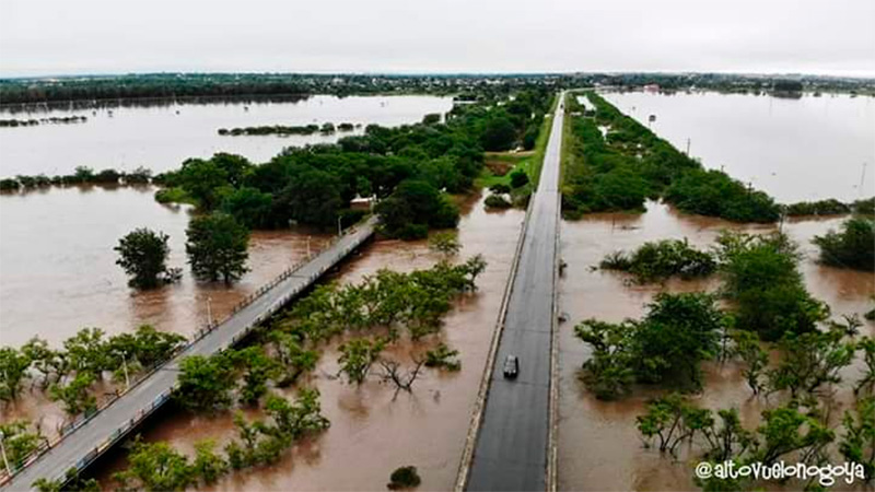 Impactantes imágenes aéreas muestran la magnitud de las inundaciones en Nogoyá