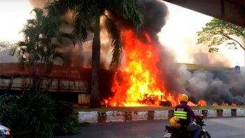 Camionero argentino protagonizó un impresionante choque que quedó filmado