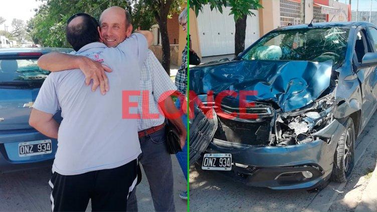 Sin insultos: Automovilista y camionero se despiden con un abrazo tras accidente
